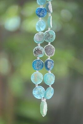 الزجاج الروماني  23 Ancient Roman Glass Old Round Beads  For Bracelet Necklace