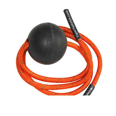 Tiger Tail Unisex Ball Massage-On-A-Rope Black Orange Sports Gym Outdoors