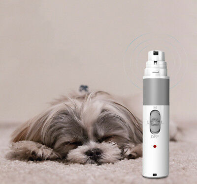 Dog Nail Grinder Electric Rechargeable Nail Trimmer Clipper for Large Smal Pets