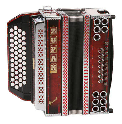 Accordeon 48 Cles 16 Basses 8 Helicon Sangles Design Ombre Rouge Professionnel