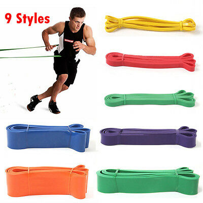 New Heavy Duty Resistance Band Loop Power Gym Fitness Exercise Yoga  Pilates US#