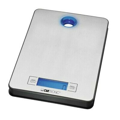 Stainless steel digital kitchen scale LCD Display Scales blue Clatronic KW 3412