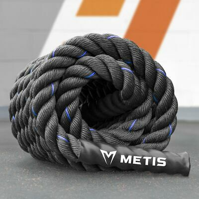 9m Battle Rope - 4cm Thick Weighted Gym Rope - Fitness Conditioning & CrossFit