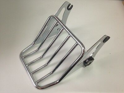 chrome baggage rack rear carrier street road glide detachable 2up new harley hd