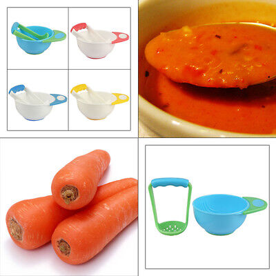 Baby Food Dishes Grinding Bowl Children Fruits Vegetables Masher Supplement Mill
