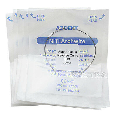 10 Bags Orthodontic Dental Reverse NITI Super Elastic Arch Wire Round 018 Lower