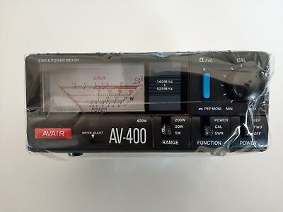 AVAIR AV-400 VHF & UHF SWR/RF Power Meter - Free Delivery