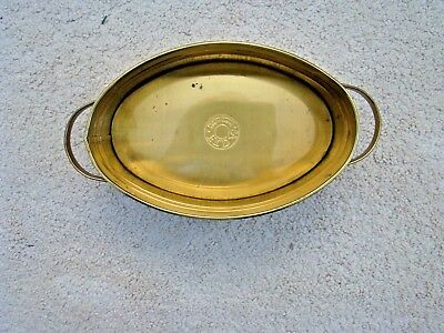 """Vintage F T D A Brass Container Handled 8"""" Made In Holland Nihof Zevenaap VG"""