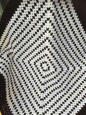 Handmade Crochet  Baby Blanket unisex, pram, car or Home. Neutral