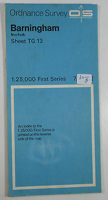 1960 old vintage OS Ordnance Survey 1:25000 First Series map TG 13 Barningham