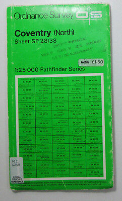 1978 OS Ordnance Survey Second Series Pathfinder map SP 28/38 Coventry (North)
