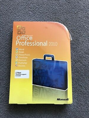 Microsoft Office Professional 2010 Pack Brand New Sealed