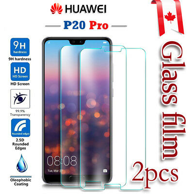 2X Huawei P20 Pro Tempered Glass LCD Screen Protector Film Guard [2pcs]
