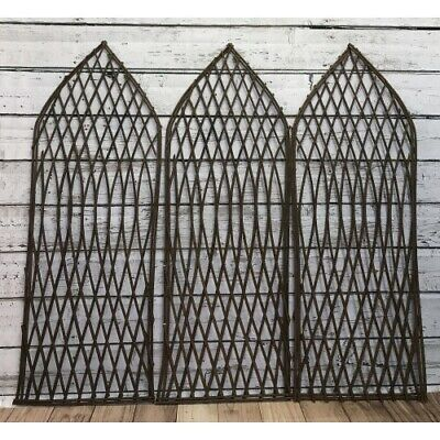 Willow Garden Trellis Panels with Gothic Top Set of 3 120cm x 45cm