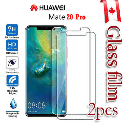 2X Huawei Mate 20 Pro Tempered Glass LCD Screen Protector Film Guard [2pcs]