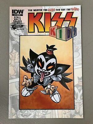 KISS KIDS 1 JETPACK COMICS EXCLUSIVE VARIANT B Ace Frehley IDW First Printing