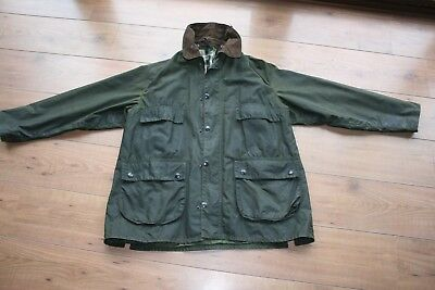 MENS WAXED GREEN BARBOUR BEDALE JACKET SIZE  112cm/44inch