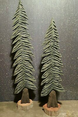 Hand Carved Pine Trees , Carved Trees , Christmas Trees , Hand Carving , Trees