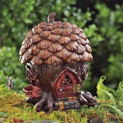 Fiddlehead Pine Cone Cottage Fairy House- Great Value, Free Delivery, Discounts