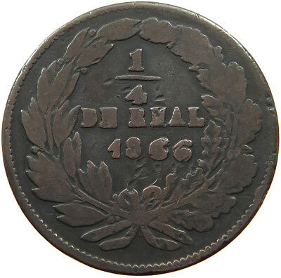 MEXICO 1/4 REAL 1866 CHIHUAHUA    #t65 015