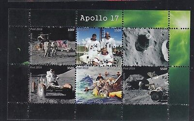 10x Space Apollo 17 Moon Landing perf - Private Local issue Wholesale / not MNH
