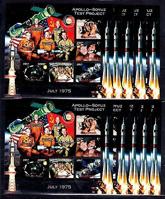 10x Space Apollo Soyuz Project Astronauts imper Private Local issue PL52 not MNH