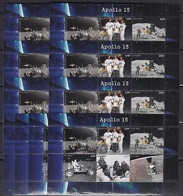 10x Space Apollo 15 perf - Private Local issue Wholesale not MNH