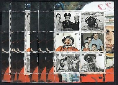 10x Space Yuri Gagarin perf - Private Local Issue [K4] not MNH
