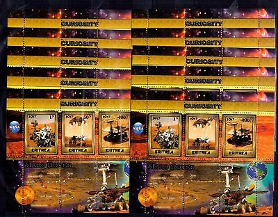 10x Space - Curiosity - Mars Rover NASA - Private Local issue [M12] not MNH