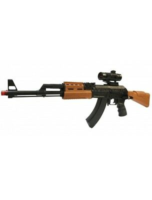 AK-47 7 TOY Kids Army Force Automatic Rifle  Flashing Fire & Sound  7744B