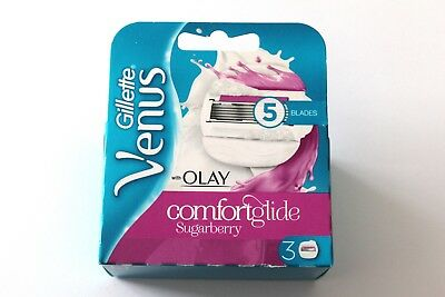 Gillette Venus Comfort Glide Sugarberry With Olay - 3 Blades