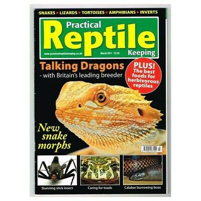 Practical Reptile Keeping Magazine March 2011 MBox1747 Talking Dragons