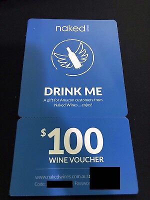 Naked  Wine - Drink Me $100 dollar Gift Card+Details once bought sent via email