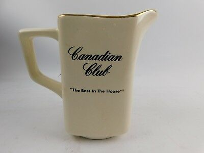 """Canadian Club Ceramic Water Pitcher """" The Best In The House """" 5.5"""""""
