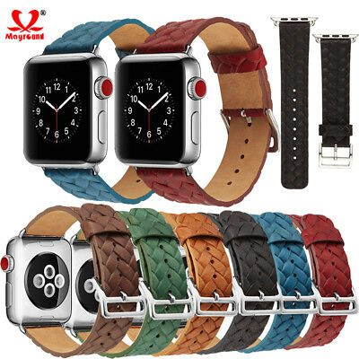 Genuine Leather Watch Band Wrist Strap 38mm 42mm For Apple iWatch Series 4 3 2 1