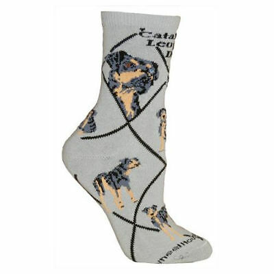 Catahoula Leopard Dog Breed Gray Lightweight Stretch Cotton Adult Socks