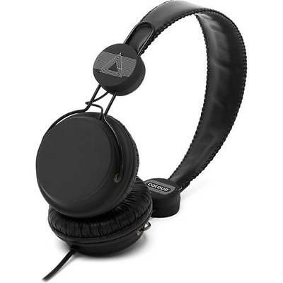 Black Wired On-Ear Stereo Headphones With Mic & Remote 3.5mm Jack - BRAND NEW