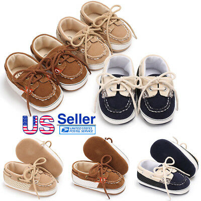 Baby Toddler Boy Stitching Soft Sole Shoes Non-slip Casual Lace Up Sneaker Shoes