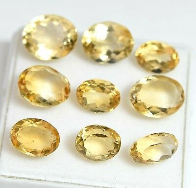 30.10 Ct Natural Yellow Citrine Gem Stones Untreated Superb Quality Lot Of 9 Pcs