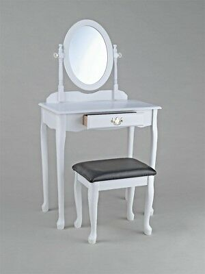 Baroque girl vanity mirror vanity drawer wooden stool design white BHP 421469