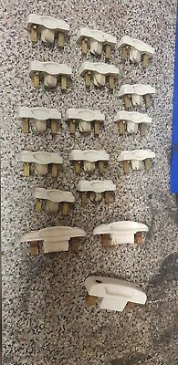 Vintage MEMCERT ceramic fuse holders carriers X17 no fuses