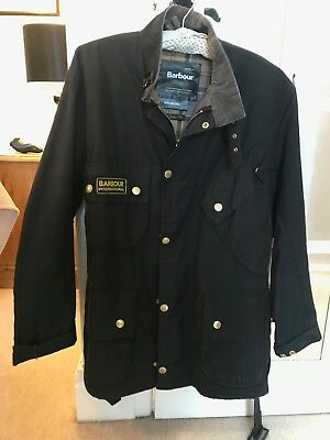 Barbour International Men's Original Wax Jacket - Black Mwx0004Bk51 38 Size M