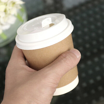 Thicken Kraft Paper Coffee Cup for Takeout Weddings Party Business Occasion