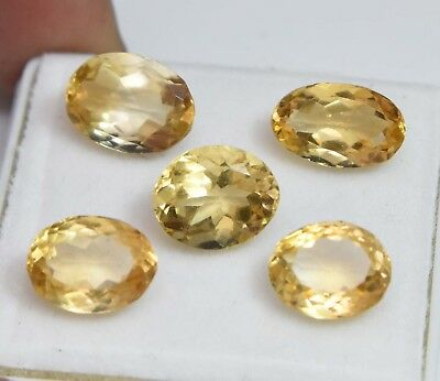 17.15 Ct Natural Yellow Citrine Gem Stones Untreated Superb Quality Lot Of 5 Pcs
