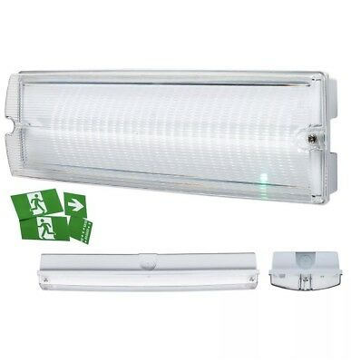 Knightsbridge 230V 4W LED Emergency Bulkhead Light Maintained/Non-maintained L
