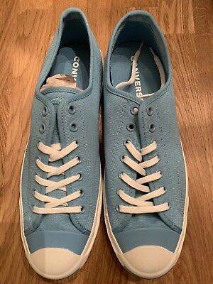 Unisex Converse Jack Purcell Low Top Woven Textile Shoes - Blue - Size 10  Mens 101f68adf