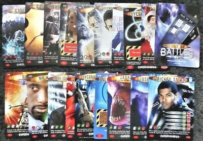 Bundle Lot of 19 Doctor Who Exterminator Common and Rare Trading Cards