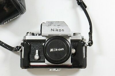 Nikon F 35mm with leather case and 50mm 1.8 Nikkor