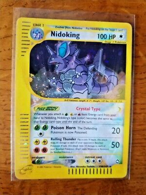 NIDOKING POKEMON CRYSTAL 150/147 INGLESE AQUAPOLIS FUORISERIE lugia ex gx shinin