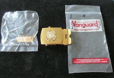 Vintage Belt Buckle Vanguard United States Coast Guard - Solid Brass! - Military